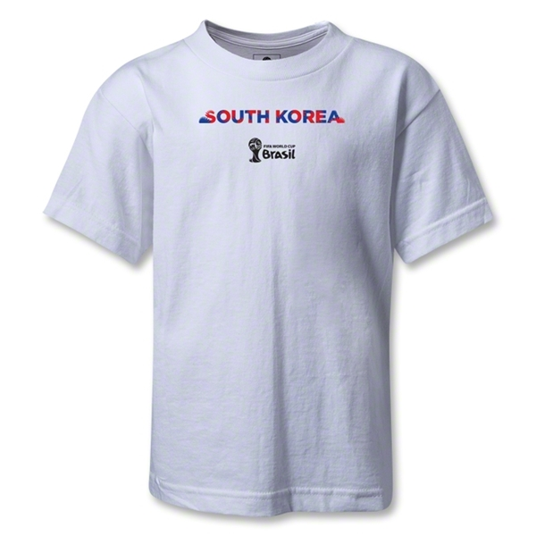 South Korea 2014 FIFA World Cup Brazil(TM) Kids Palm T-Shirt (White)