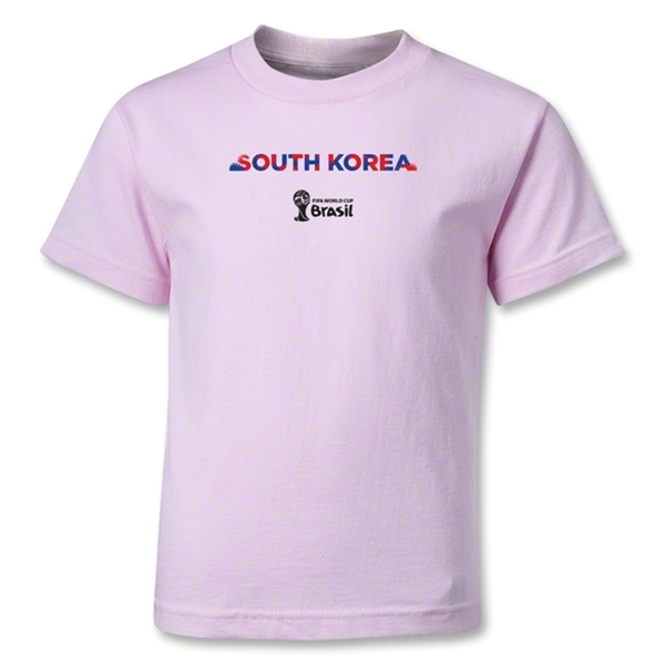 South Korea 2014 FIFA World Cup Brazil(TM) Kids Palm T-Shirt (Pink)