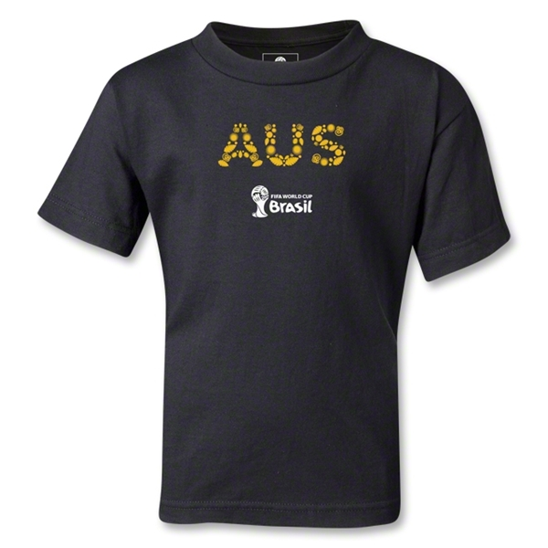 Australia 2014 FIFA World Cup Brazil(TM) Kids Elements T-Shirt (Black)