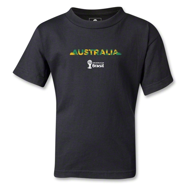 Australia 2014 FIFA World Cup Brazil(TM) Kids Palm T-Shirt (Black)