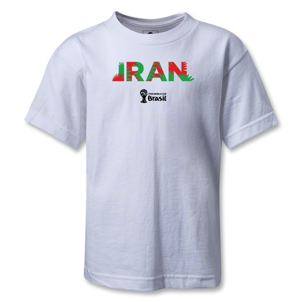 Iran 2014 FIFA World Cup Brazil(TM) Kids Palm T-Shirt (White)