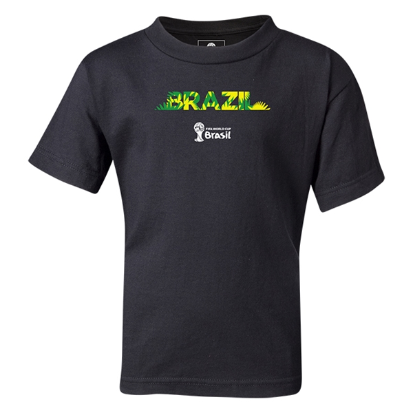 Brazil 2014 FIFA World Cup Brazil(TM) Kids Palm T-Shirt (Black)