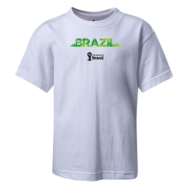 Brazil 2014 FIFA World Cup Brazil(TM) Kids Palm T-Shirt (White)