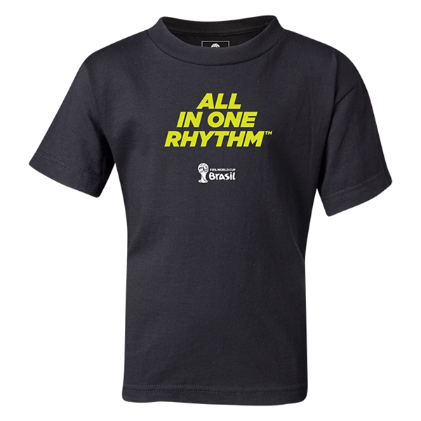 2014 FIFA World Cup Brazil(TM) Kids All In One Rhythm T-Shirt (Black)