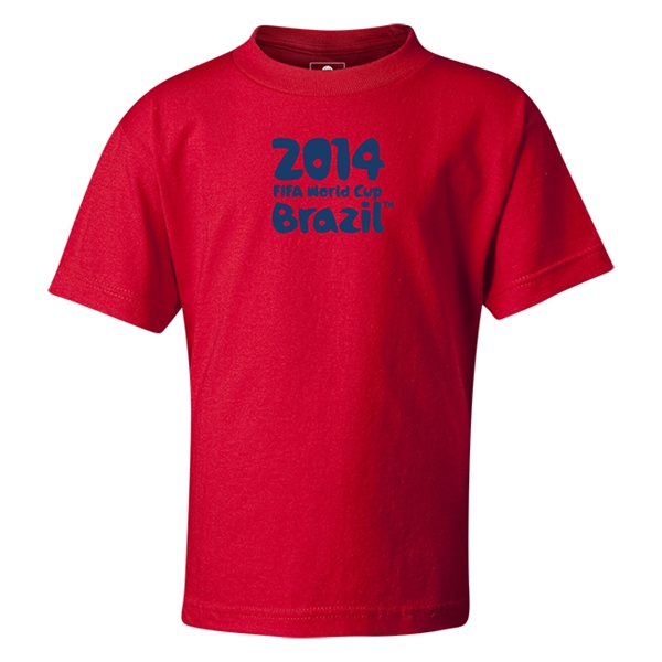 2014 FIFA World Cup Brazil(TM) Kids Logotype T-Shirt (Red)