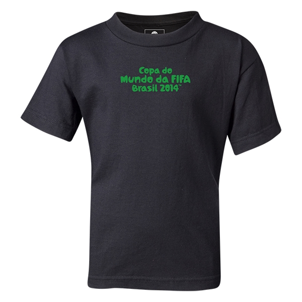 2014 FIFA World Cup Brazil(TM) Kids Portugese Logotype T-Shirt (Black)