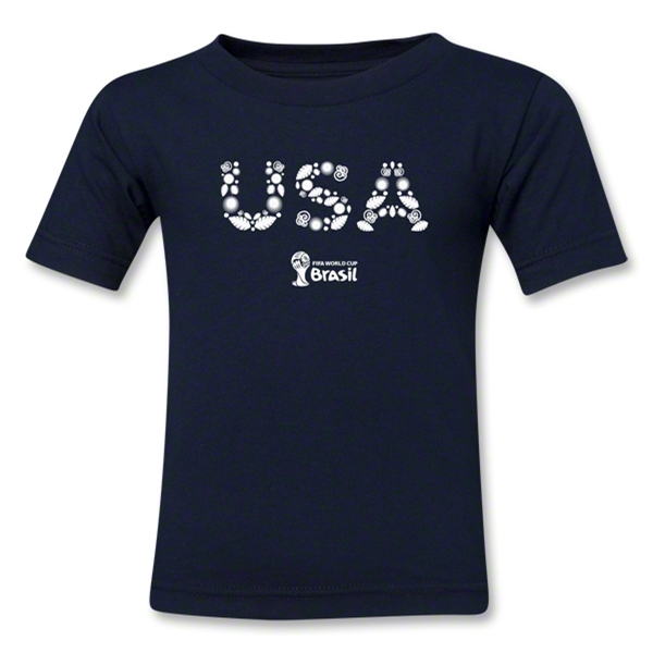USA 2014 FIFA World Cup Brazil(TM) Kids Elements T-Shirt (Navy)