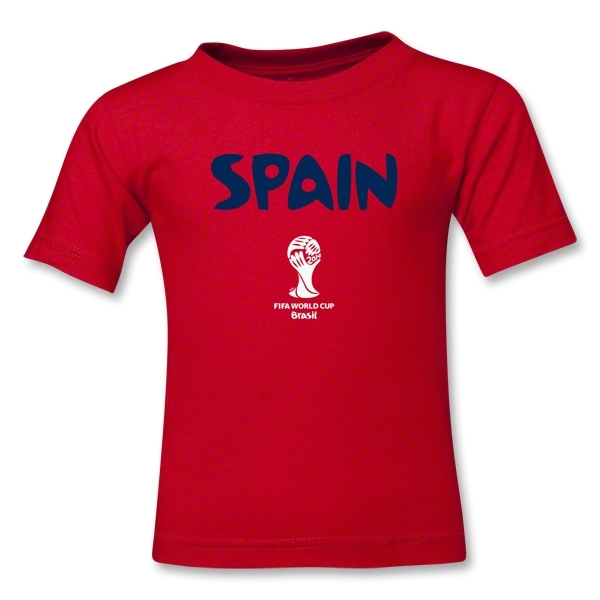 Spain 2014 FIFA World Cup Brazil(TM) Kids Core T-Shirt (Red)
