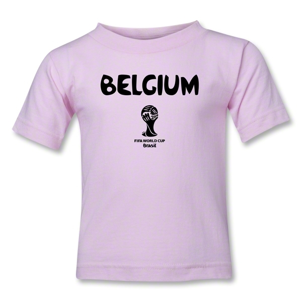 Belgium 2014 FIFA World Cup Brazil(TM) Kids Core T-Shirt (Pink)