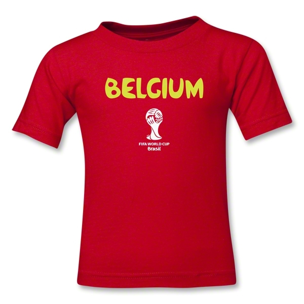 Belgium 2014 FIFA World Cup Brazil(TM) Kids Core T-Shirt (Red)