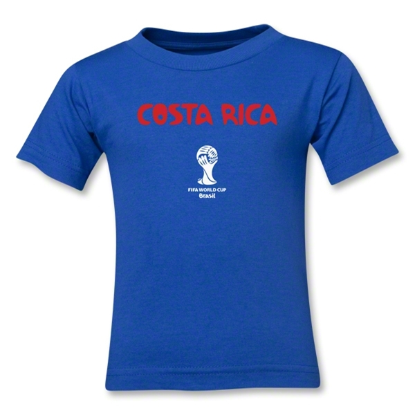 Costa Rica 2014 FIFA World Cup Brazil(TM) Kid's Core T-Shirt (Royal)