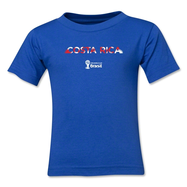 Costa Rica 2014 FIFA World Cup Brazil(TM) Kid's Palm T-Shirt (Royal)