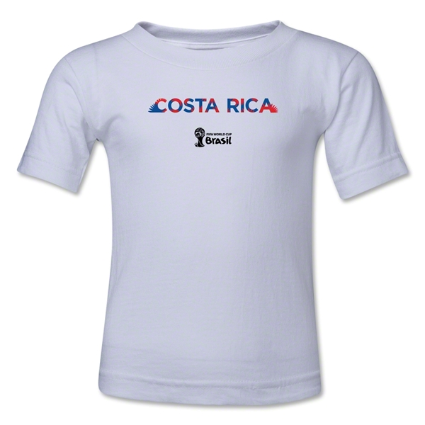 Costa Rica 2014 FIFA World Cup Brazil(TM) Kid's Palm T-Shirt (White)