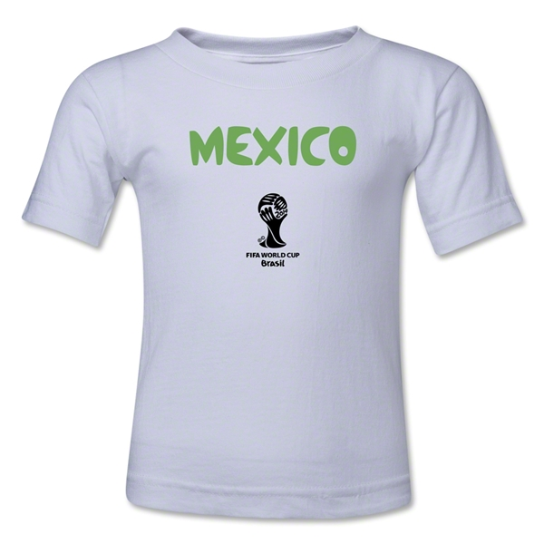 Mexico 2014 FIFA World Cup Brazil(TM) Kids Core T-Shirt (White)