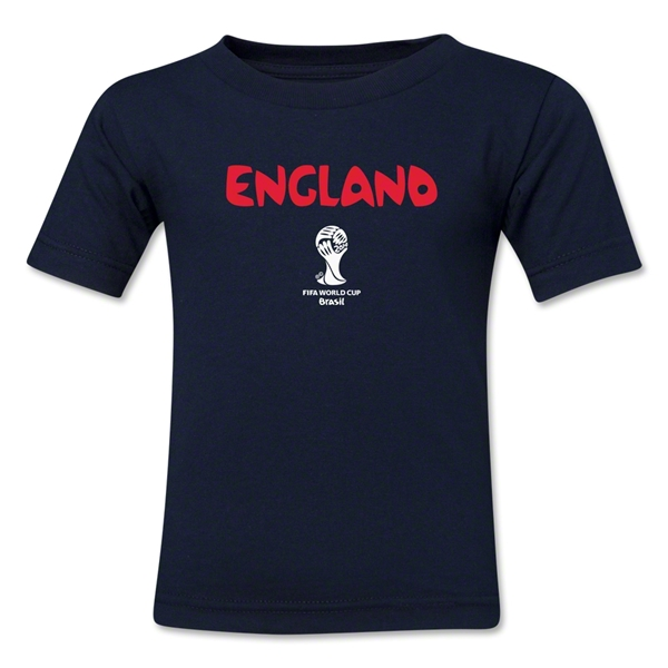 England 2014 FIFA World Cup Brazil(TM) Kid's Core T-Shirt (Navy)