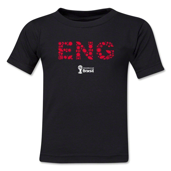 England 2014 FIFA World Cup Brazil(TM) Kid's Elements T-Shirt (Black)