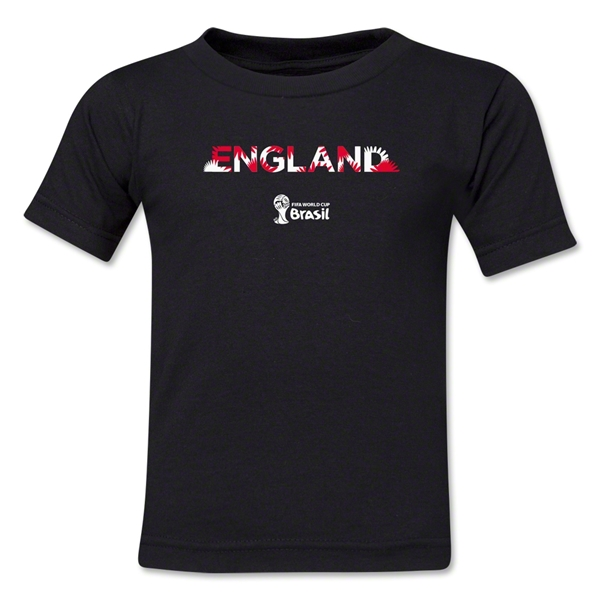 England 2014 FIFA World Cup Brazil(TM) Kid's Palm T-Shirt (Black)