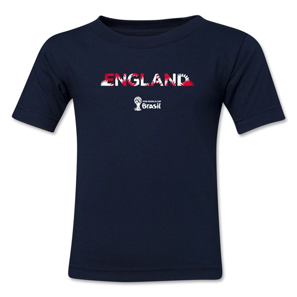 England 2014 FIFA World Cup Brazil(TM) Kid's Palm T-Shirt (Navy)