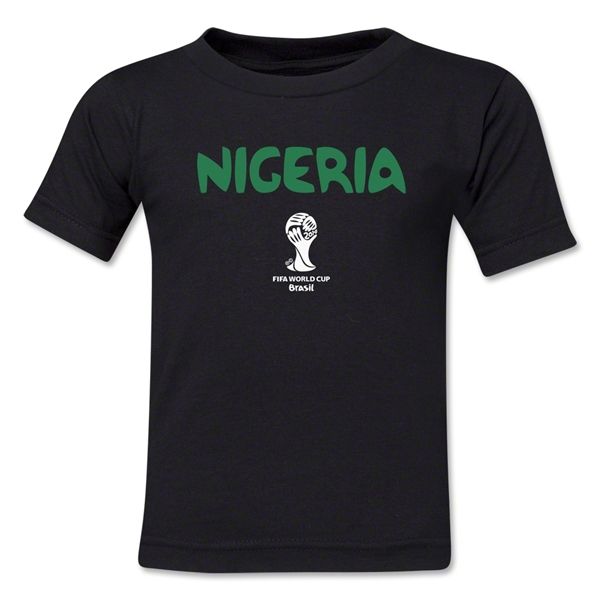 Nigeria 2014 FIFA World Cup Brazil(TM) Kid's Core T-Shirt (Black)