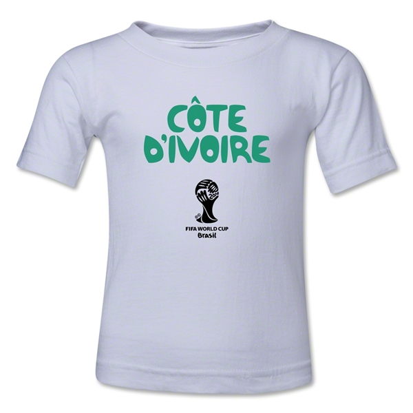Cote d'Ivoire 2014 FIFA World Cup Brazil(TM) Kid's Core T-Shirt (White)