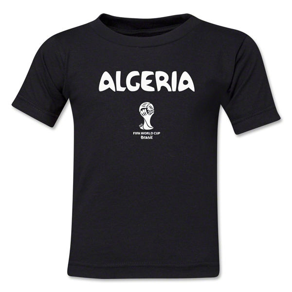 Algeria 2014 FIFA World Cup Brazil(TM) Kid's Core T-Shirt (Black)