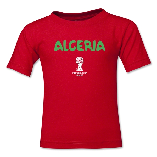 Algeria 2014 FIFA World Cup Brazil(TM) Kid's Core T-Shirt (Red)
