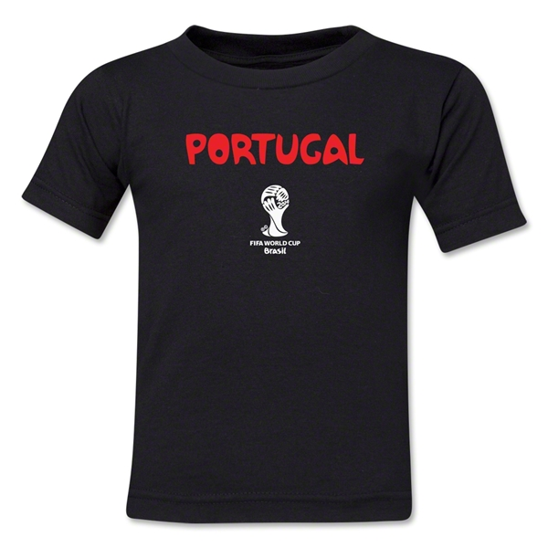 Portugal 2014 FIFA World Cup Brazil(TM) Kid's Core T-Shirt (Black)