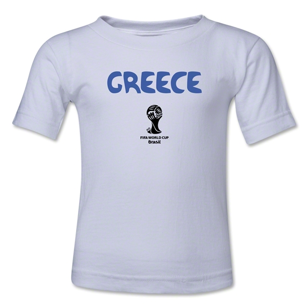 Greece 2014 FIFA World Cup Brazil(TM) Kid's Core T-Shirt (White)