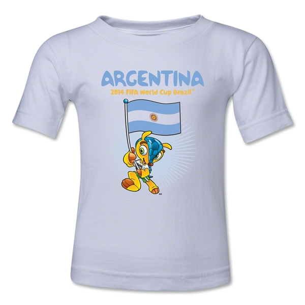 Argentina 2014 FIFA World Cup Brazil(TM) Kids Mascot Flag T-Shirt (White)