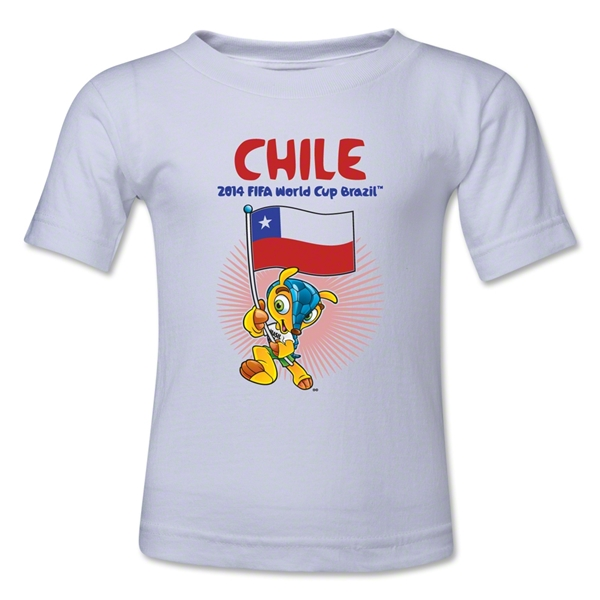 Chile 2014 FIFA World Cup Brazil(TM) Kids Mascot Flag T-Shirt (White)