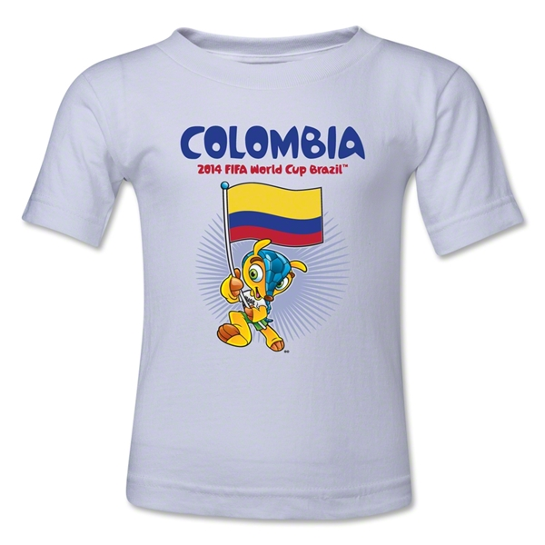 Colombia 2014 FIFA World Cup Brazil(TM) Kids Mascot Flag T-Shirt (White)