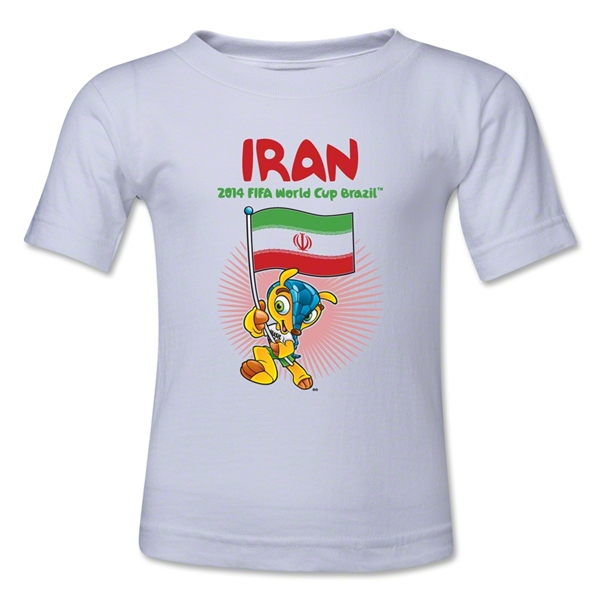 Iran 2014 FIFA World Cup Brazil(TM) Kids Mascot Flag T-Shirt (White)