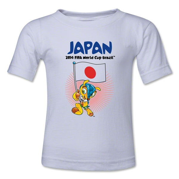Japan 2014 FIFA World Cup Brazil(TM) Kids Mascot Flag T-Shirt (White)