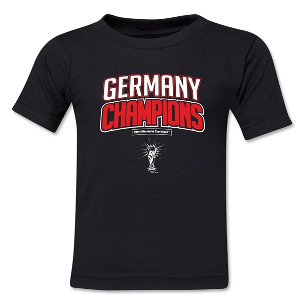 Germany 2014 FIFA World Cup Brazil(TM) Kids Champions Logotype T-Shirt (Black)