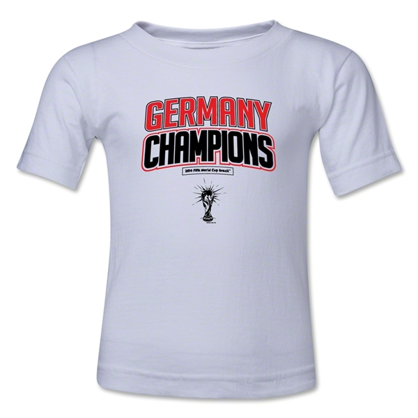 Germany 2014 FIFA World Cup Brazil(TM) Kids Champions Logotype T-Shirt (White)