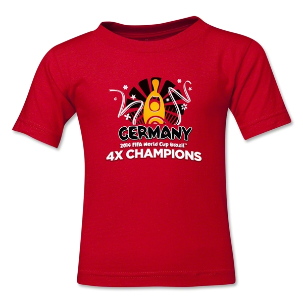 Germany 2014 FIFA World Cup Brazil(TM) Kids Champions Official Look Trophy T-Shirt (Red)
