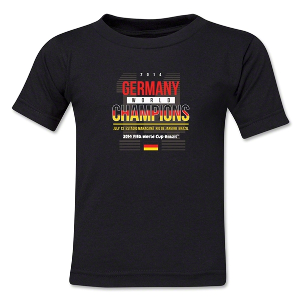 Germany 2014 FIFA World Cup Brazil(TM) Kids Champions 14 T-Shirt (Black)