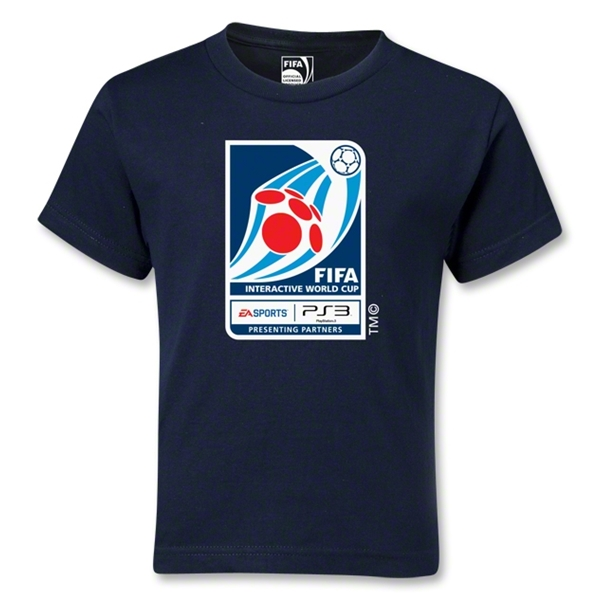 FIFA Interactive World Cup Kids Emblem T-Shirt (Navy)