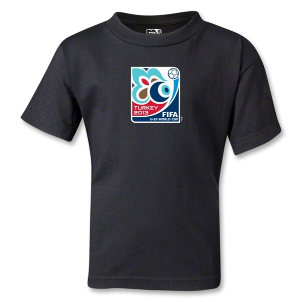 FIFA U-20 World Cup Turkey 2013 Kids Emblem T-Shirt (Black)