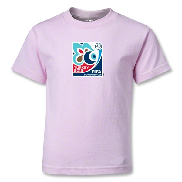 FIFA U-20 World Cup Turkey 2013 Kids Emblem T-Shirt (Pink)