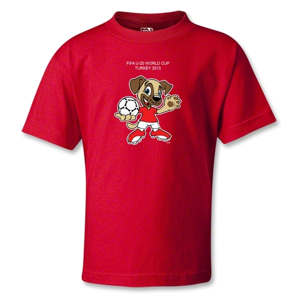FIFA U-20 World Cup Turkey 2013 Kids Mascot T-Shirt (Red)