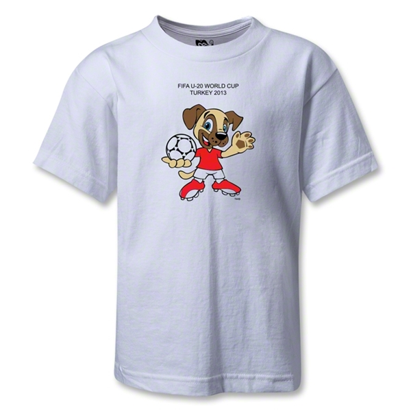 FIFA U-20 World Cup Turkey 2013 Kids Mascot T-Shirt (White)