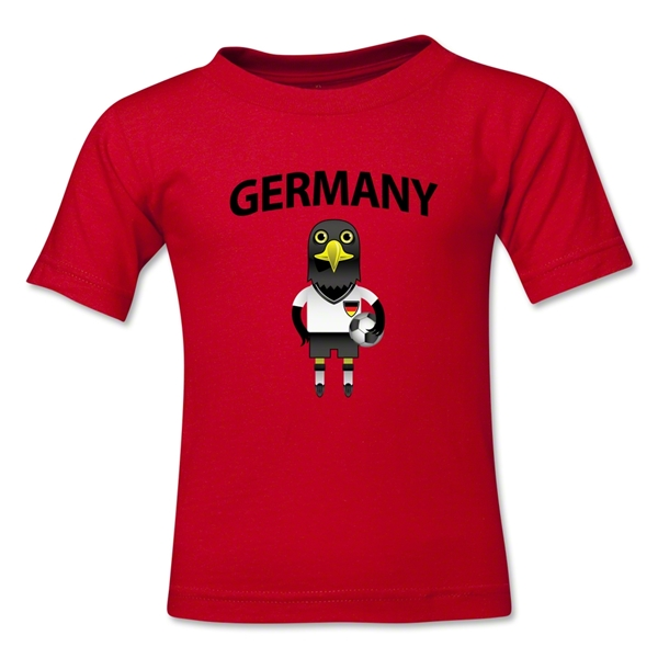 Germany Animal Mascot Kids T-Shirt (Red)