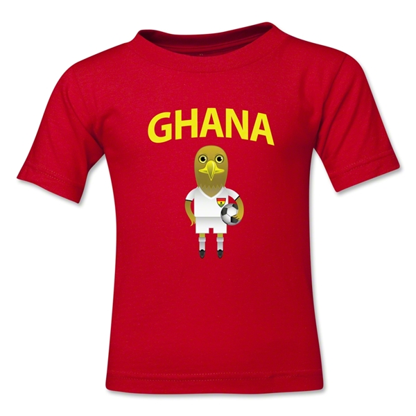 Ghana Animal Mascot Kids T-Shirt (Red)