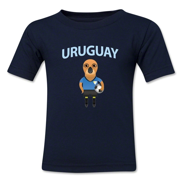 Uruguay Animal Mascot Kids T-Shirt (Navy)