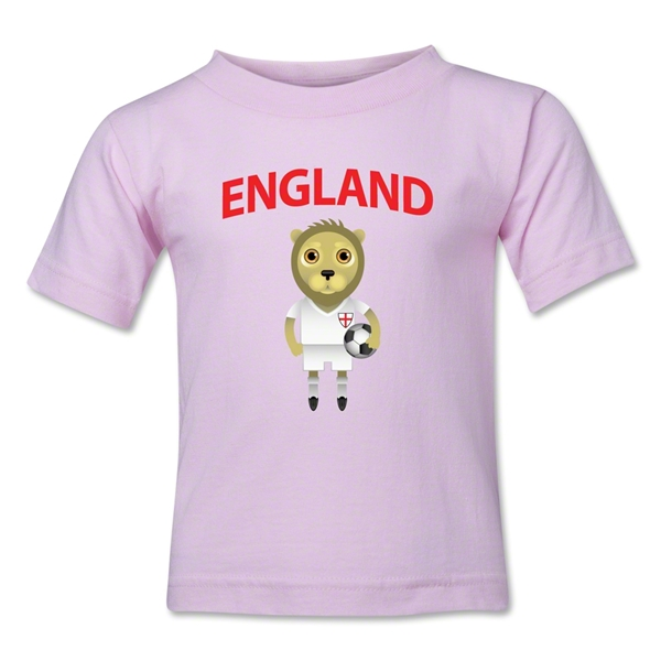 England Animal Mascot Kids T-Shirt (Pink)