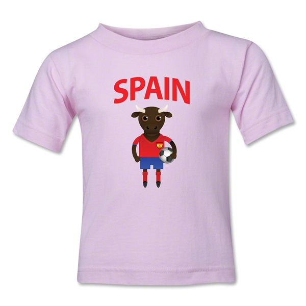 Spain Animal Mascot Kids T-Shirt (Pink)