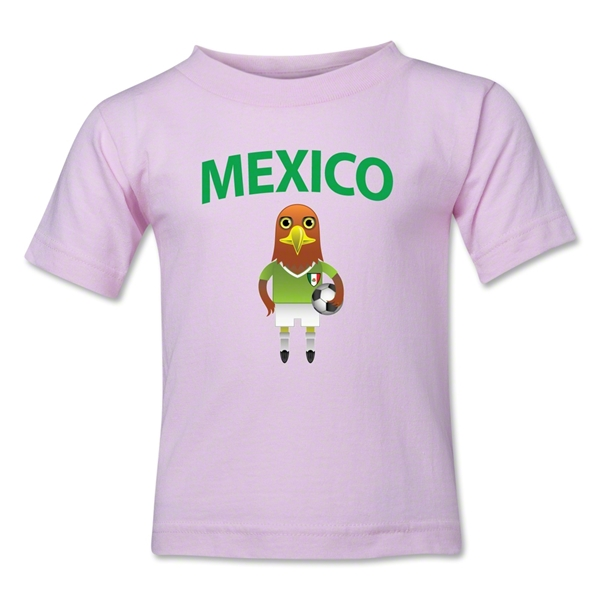 Mexico Animal Mascot Kids T-Shirt (Pink)
