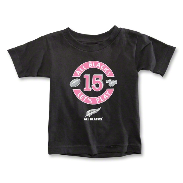 All Blacks Let's Play Toddler T-Shirt (Girls)