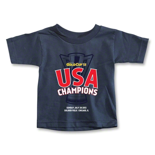 USA CONCACAF Gold Cup 2013 Champions Toddler T-Shirt (Navy)